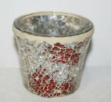 YANKEE CANDLE Votive or Tealight HOLDER RED SMASH MOSAIC ~ GORGEOUS NEW