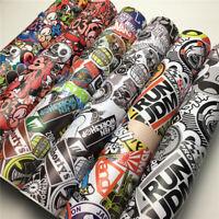30cm*152cm Cartoon Sticker Bomb Wrap Camo Vinyl Sticker Graffiti Bomb Car Film