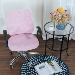 Fashion Office Computer Chair Swivel Rotate Office Seat Slipcover Pink