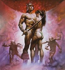 GUIDE TO BARSOOM Boris Vallejo Vintage Art 1976 GGA Mars Edgar Rice Burroughs