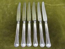 6 couteaux à dessert métal argenté Ravinet Denfert mod godrons (dessert knives)