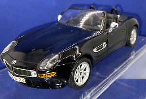 Welly 1:24 Bmw Z8 Model In Black Mint Boxed Condition