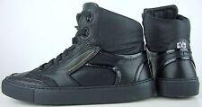 FLORIS VAN BOMMEL Sneakers High Top Sneaker Herren Leder Schuhe Black Gr.44 NEU