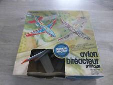 ancien jouet avion Joustra bireacteur militaire teleguidé jet J.666 en boite