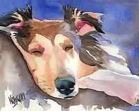 Shetland Sheepdog Sable Sheltie Dog Guardian Limited Edition Art Print SMOAR
