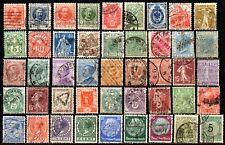 Lot de timbres anciens de plusieurs pays d´Europe - timbres tous différents.