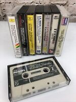 Lot of 8 Classical/Opera Cassette Tapes Walkman Mozart Bach Pavarotti Gershwin