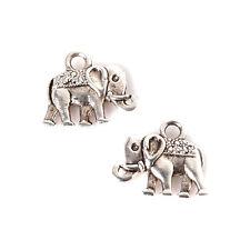 Lot de 15 Pendentif Breloques Charms éléphant 14mm x 12mm