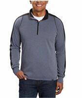 HAWKE & CO Mens Performance Long Sleeve Quarter Zip Pullover Active Sweatshirt
