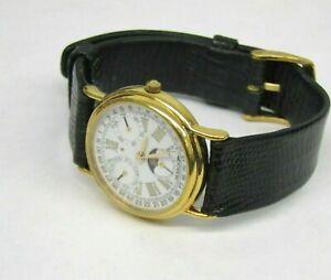 Vintage Movado 87-03-822 Moon Phase Watch 7 Jewels Triple Calendar Swiss Made