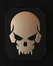 PIRATE SKULL 3D PVC TACTICAL MILITARY BADGE US ARMY MORALE SWAT HOOK PATCH