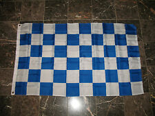 3x5 Advertising Checkered Checker Blue White flag 3'x5' House banner grommets
