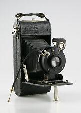 Vintage Folding Camera c.1920est w/ Gitzo Type A Shutter & H. Roussel Lens (X55)