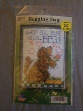 New listing Design works counted cross stitch kit. Begging Dog.