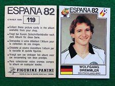ESPANA 82 n 119 DEUTSCHLAND-BRD DREMMLER Figurina Sticker Calciatori Panini NEW