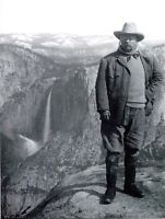 POSTCARD REPRODUCTION FROM OLD PHOTOGRAPH TEDDY ROOSEVELT IN YOSEMITE