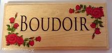 BOUDOIR Plaque / Sign  / Gift - Bedroom Home Door Red Rose Flowers Hotel 254