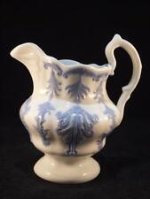 Victorian Porcelain Blue Sprigged Milk Jug c 1860