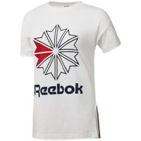 Reebok Classics Women's Starcrest Logo T-Shirt (White/Collegiate Navy) CD8241