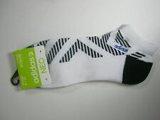 Adidas NEO Men's Socks Shoe Size 6-12 White Black NO SHOW New