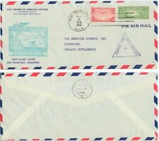 May 2 1941 San Francisco California to Singapore First Flight cover