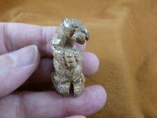 New listing (Y-Ott-La-552) little Tan Jasper Sea Otter carving figurine marine river otters