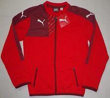 NWT PUMA Boys Mestre Walk Out Full Zip Athletic Training Jacket RED Youth M $70