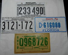 USA Nummernschilder, 4 Kurzzeitschilder für Händler etc, sind aus Pappe. 12767.