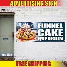 Funnel Cake Emporium Advertising Banner Vinyl Mesh Decal Sign Delicious Fries