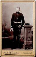 CDV photo Soldat - Hagenau 1890er