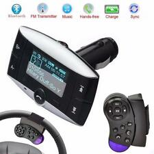 1.5''LCD Car Kit MP3 Player Bluetooth FM Transmitter Modulator SD MMC USB Remote