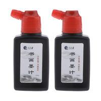 2pcs 100g Ink Liquid Ink for Artisit DIY Art Signatures Calligraphy Brushes