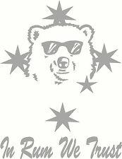 Bundy Bear, In Rum We Trust Southern Cross Sticker Decal 190 x 250mm