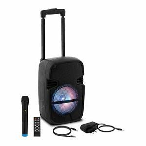 Enceinte Active Amplifiée Haut Parleur DJ Sono Pa Karaoke USB SD MP3 Micro 15w