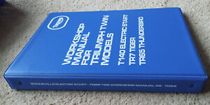 Triumph T140 Paper Motorcycle Repair Manuals Literature For Sale Ebay