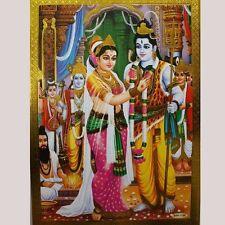 Altarbild Shiva-Parvati- Hochzeit Prägedruck Indien Hinduismus Bild  Om Puja 16