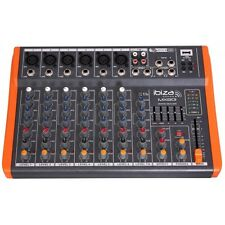 IBIZA SUONO MX801 USB MIXER AUDIO BLOCCO NOTE Band PA SYSTEM STUDIO
