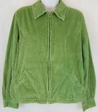 PRE-OWNED WOMEN'S NY JEANS GREEN ZIP FRONT CORDUROY JACKET SIZE M