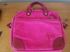 Juicy Couture Pink Laptop Computer Logo Case / Bag