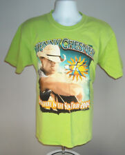 MENS 2005 KENNY CHESNEY T SHIRT LARGE BRIGHT GREEN SOMEWHERE IN THE SUN TOUR
