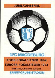 08.05.1984 1. FC Magdeburg Pokalsieger 1964 - Pokalsieger 1974 mit Heinz Krügel