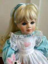 "Alice in Wonderland 1994 Marie Osmond Limited Ed.Porcelain Doll 18"" Rare w/ Box"