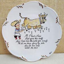 Vintage Decorative Plate Wall Hanging Bar Ware Humor Funny Western Cowboy