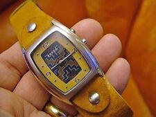 2003 Unisex Fossil Big Tic JR-8185 Steel - 30m - Quartz Analog  Watch.Working.