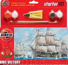 Airfix Starterset HMS VICTORY SAILING SHIP + Colour Paintbrush Adhesive Model
