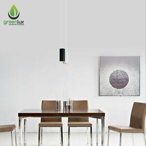 Cusp Series 80*130*1500mm 10W Modern LED Pendant Light Dimmable Black / White