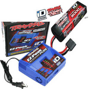 Traxxas EZ-Peak Plus Fast Charger w/ ID 3S 11.1V 25C 5000mAh Lipo Battery