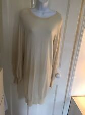 N. Peal - 100% Cashmere Dress in Cream - Size Medium - Lovely!