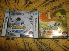 Pokemon Soul Silver + Pokémon Heart Gold + 2 Pokewalker TEST 1/6/19 Nintendo DS