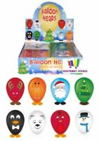 24 x BALLOON HEADS CHRISTMAS STICKER KIDS TOYS PARTY BAG FILLERS FUNNY FACES